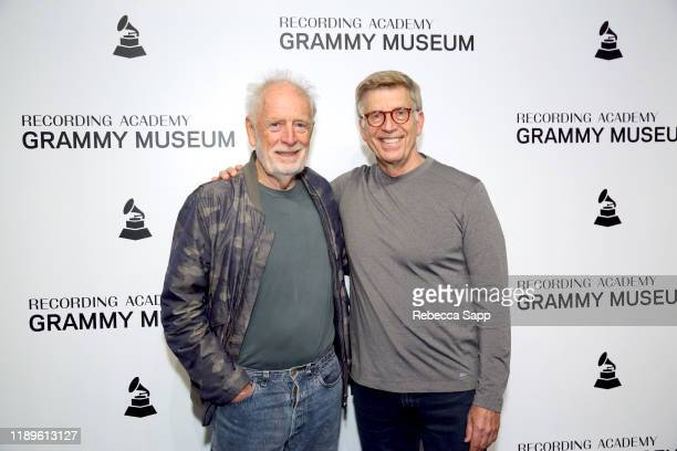 Founder of Island Records Chris Blackwell and GRAMMY Museum's Founding Executive Director Bob Santelli attend Island Records 60th Anniversary at the...
