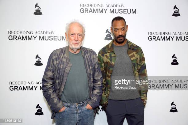 Founder of Island Records Chris Blackwell and President of Island Records Darcus Beese attend Island Records 60th Anniversary at the GRAMMY Museum on...