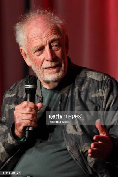 Founder of Island Records Chris Blackwell speak onstage at Island Records 60th Anniversary at the GRAMMY Museum on November 23, 2019 in Los Angeles,...