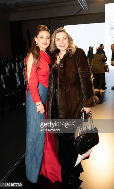 Founder of Jordan Fashion Week Shirene Rifai and guest attend Jordan Fashion Week 019 on March 30 2019 at the Kempinski Amman in Amman Jordan