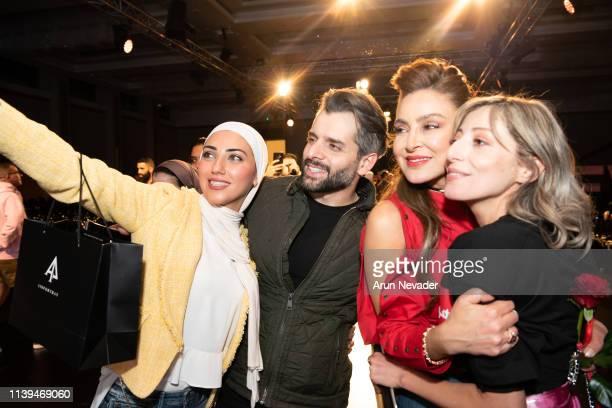 Founder of Jordan Fashion Week Shirene Rifai and Jordan Fashion Week Stylist Uns Ghassib celebrate the finale with guests at Jordan Fashion Week 019...