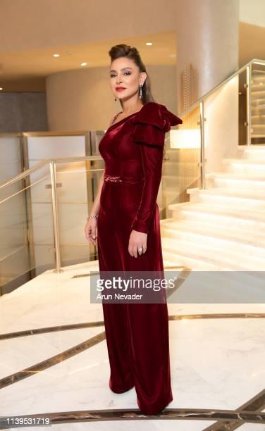 Founder of Jordan Fashion Week Shirene Rifai poses for a photo during Jordan Fashion Week 019 on March 30 2019 at the Kempinski Amman in Amman Jordan
