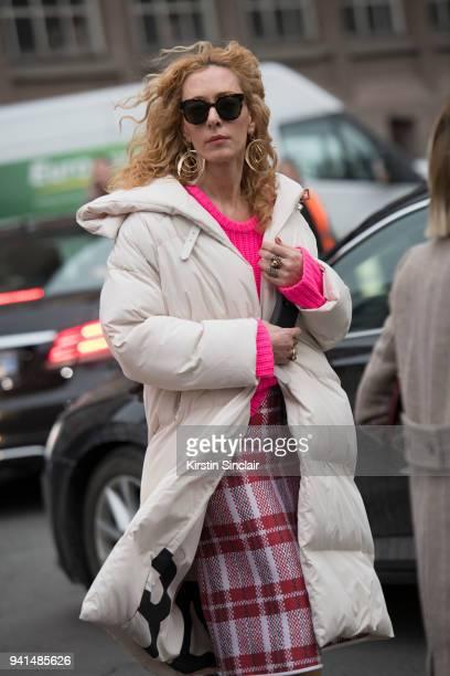 880f1cf6996572 Founder of Kabuki boutique Paris and fashion buyer Elina Halimi wears a  Barbara Bui puffer jacket