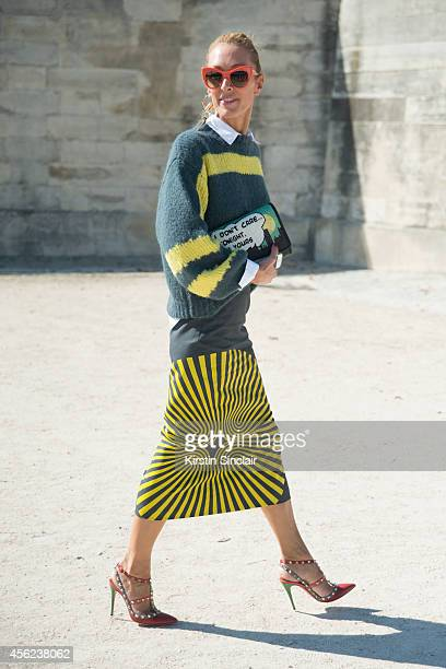 Founder of Kabuki Paris Elina Halimi on day 4 of Paris Collections Women on September 26 2014 in Paris France