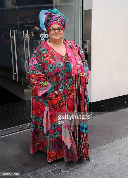 Founder of Kids Company Camila Batmanghelidjh is interviewed outside Global House on August 7 2015 in London England