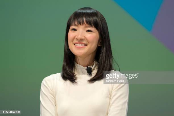Founder of KonMari Media Inc Marie Kondo speaks on stage during the BlueCurrent session at the Cannes Lions 2019 Day One on June 17 2019 in Cannes...