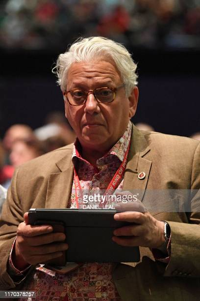 Founder of Labour's Momentum movement Jon Lansman attends the Labour party conference in Brighton on the south coast of England on September 23 2019...