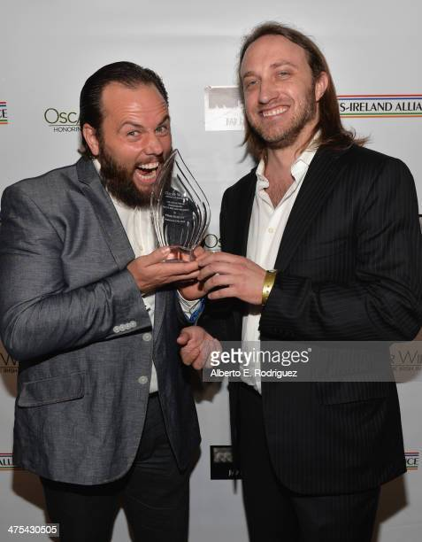 Founder of Maker Studios Shay Carl and YouTube cofounder/Honoree Chad Hurley attend the 9th Annual 'Oscar Wilde Honoring The Irish In Film'...