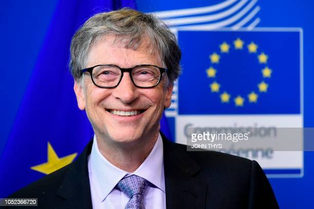 Founder of Microsoft and chairman of Breakthrough Energy Ventures to establish the Breakthrough Energy Europe investment fund Bill Gates smiles...