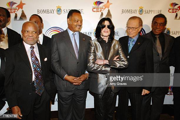 Founder of Motown Records Berry Gordy Founder and President of the Rainbow PUSH Coalition Reverend Jesse Jackson Sr Singer Michael Jackson talk show...