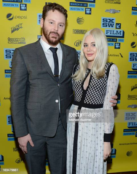 Founder of Napster Sean Parker and fiance Alexandra Lenas attend the World Premiere of 'Downloaded' during the 2013 SXSW Music Film Interactive...