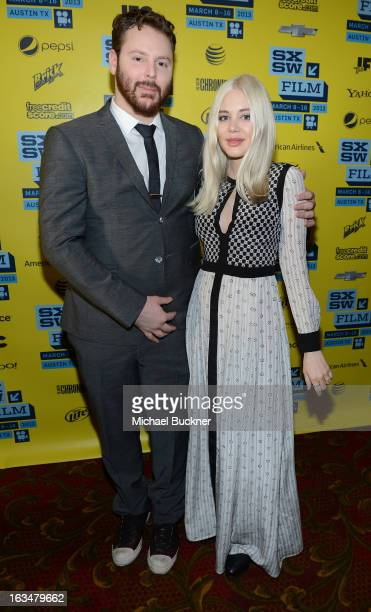 Founder of Napster Sean Parker and fiance Alexandra Lenas attend the World Premiere of Downloaded during the 2013 SXSW Music Film Interactive...