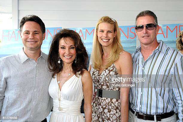 CEO / Founder of Niche Media Jason Binn Actress Susan Lucci Beth Ostrosky and CEO of The Borgata Hotel Larry Mullin attend the Annual Hamptons...