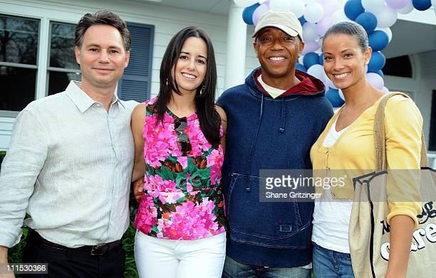 Founder of Niche Media Jason Binn, wife Haley Binn, hip-hop mogul Russell Simmons and actress Porschla Coleman attend the Annual Hamptons Magazine...