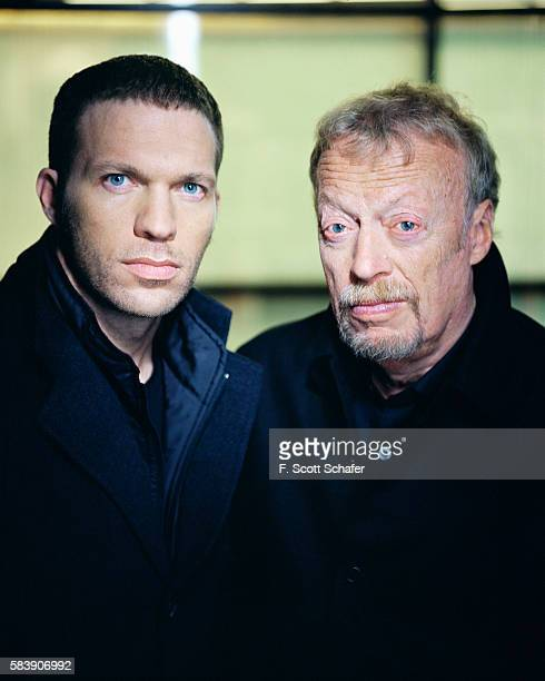 Founder of Nike and Laika Phil Knight and son Travis Knight are photographed for Wired Magazine on December 5 2005