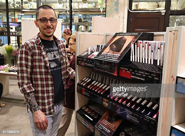 Founder of OCC David Klasfeld attends the Obsessive Compulsive Cosmetics launch at Urban Outfitters on March 24 2016 in New York City