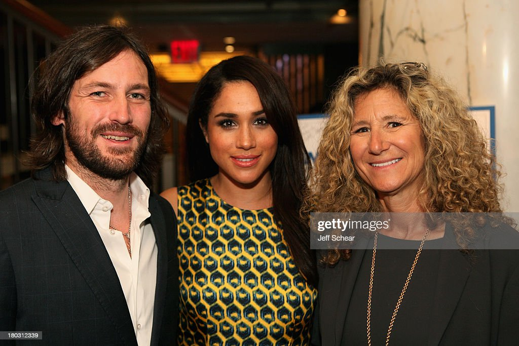 Founder of One Hope Many Homes Thomas Keown, Meghan Markle and Edie Lutnick attend the Annual Charity Day Hosted By Cantor Fitzgerald And BGC at the Cantor Fitzgerald Office on September 11, 2013 in New York, United States.