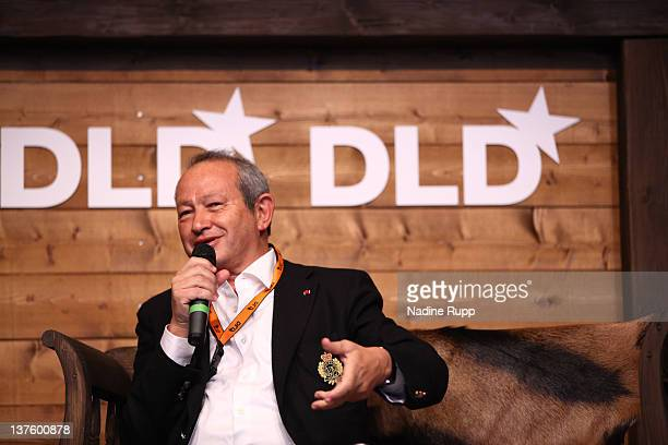 Founder of Orascom Telecom Holding Naguib Sawiris speaks during the Digital Life Design conference at HVB Forum on January 23 2012 in Munich Germany...