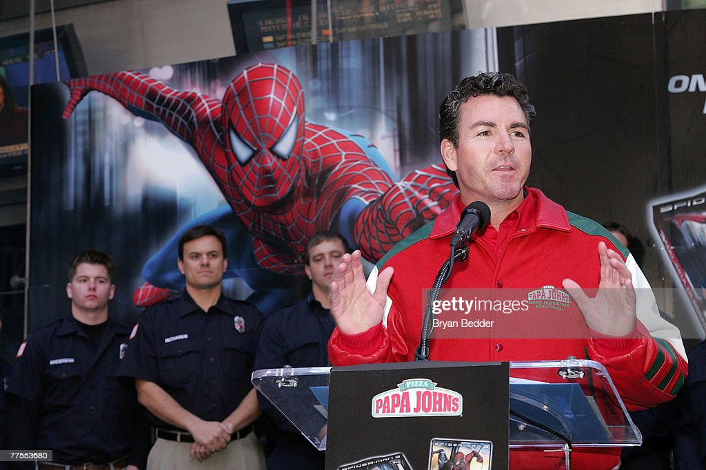 "Spider-Man & Papa John's Pizza Announce ""Hometown Super-Heroes"" : News Photo"