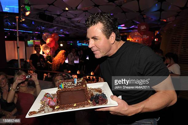 Founder of Papa John's Pizza John Schnatter attends the Official After Party for the 2011 American Music Awards held at the Conga Room at LA LIVE on...