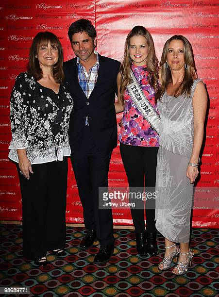Founder of Project Cuddle Debbe Magnusen Actor John Stamos Miss Teen USA Stormi Henley and Lauren Egna attend the Cuddle Project awareness event at...
