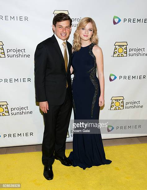 Founder of Project Sunshine Joseph Weilgus and Singer Jackie Evancho attend Project Sunshine's 13th annual benefit celebration on May 05 2016 in New...