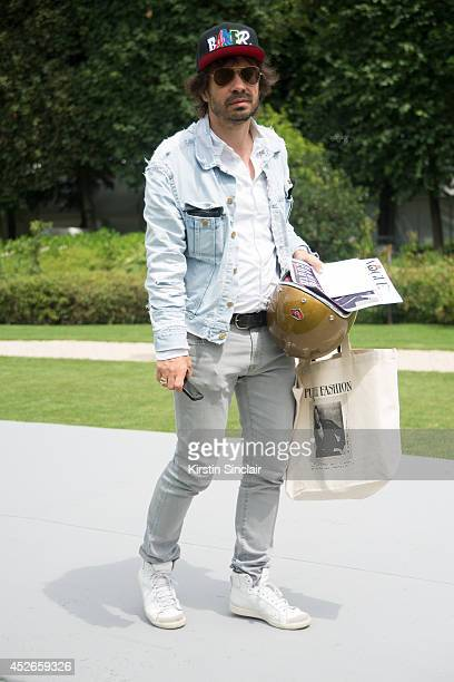 Founder of Purple Magazine Olivier Zahm day 2 of Paris Haute Couture Fashion Week Autumn/Winter 2014 on July 7 2014 in Paris France