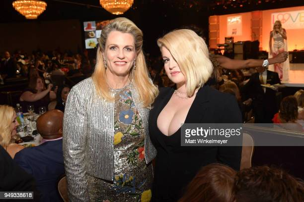 Founder of Race To Erase MS Nancy Davis and Kelly Osbourne attend the 25th Annual Race To Erase MS Gala at The Beverly Hilton Hotel on April 20 2018...