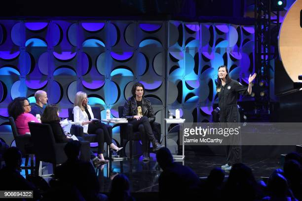 Founder of Re3D Samantha Snabes attends WeWork presents Creator Awards Global Finals at the Theater At Madison Square Garden on January 17 2018 in...