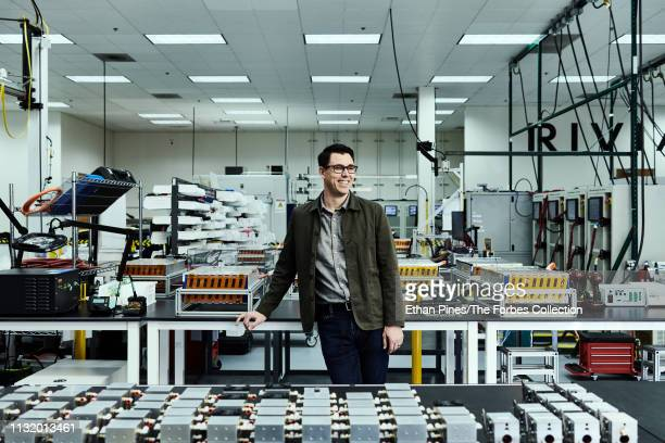 Founder of Rivian Automotive RJ Scaringe is photographed for Forbes Magazine on January 20 2019 in Irvine California CREDIT MUST READ Ethan Pines/The...