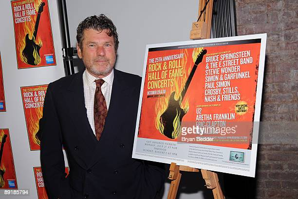 Founder of Rolling Stone Jann Wenner attends the Rock and Roll Hall of Fame Foundation 25th Anniversary special annoucement at the Rock and Roll Hall...