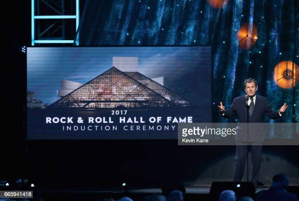 Founder of Rolling Stone magazine and Rock and Roll Hall of Fame Founder Jann Wenner speaks onstage at the 32nd Annual Rock Roll Hall Of Fame...