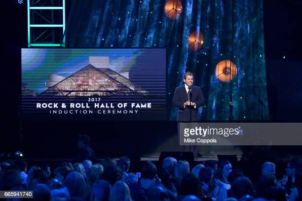 Founder of Rolling Stone Magazine and Rock and Roll Hall of Fame Founder Jann Wenner speaks onstage onstage at the 32nd Annual Rock Roll Hall Of Fame...