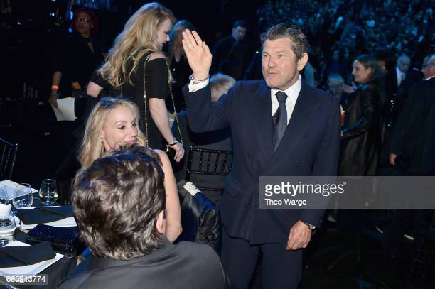 Founder of Rolling Stone magazine and Rock and Roll Hall of Fame founder Jann Wenner attends the 32nd Annual Rock Roll Hall Of Fame Induction...