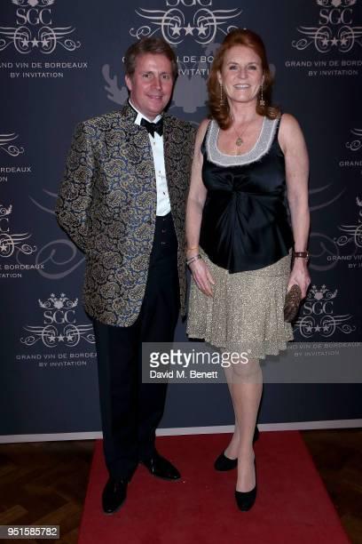 Founder of SGC, Arnaud Christiaens and Sarah Ferguson, Duchess of York attend the Le Cercle SGC Dinner, 'A Golden Affair' at Cafe Royal on April 26,...