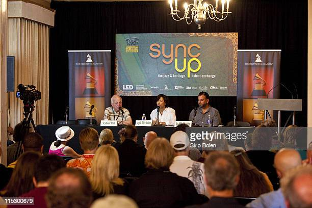 Founder of Sire Records Seymour Stein Recording Academy executive Angelia BibbsSanders and head of music for Grey Worldwide Advertising Agency Josh...