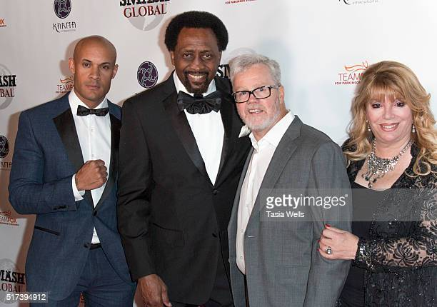 Founder of Smash Global and professional MMA fighter Steve Orosco world champion boxer and Boxing Hall of Fame inductee Thomas The Hitman Hearns...