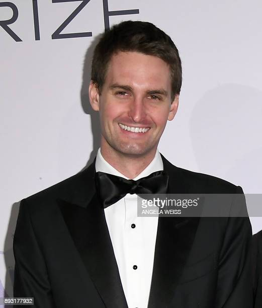 Founder of Snap Inc Evan Spiegel attends the 2017 Berggruen Prize Gala at the New York Public Library on December 14 2017 in New York / AFP PHOTO /...