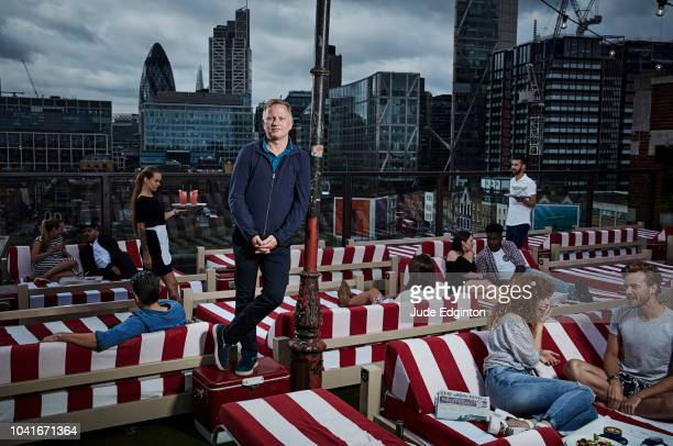 Founder of Soho House Nick Jones is photographed for the Times magazine on August 4 2016 in London England