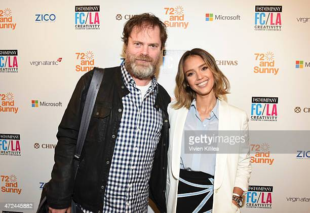 Founder of SoulPancake Rainn Wilson and founder and Chief Creative Officer of The Honest Company Jessica Alba attends Fast Company Hosts FirstEver LA...