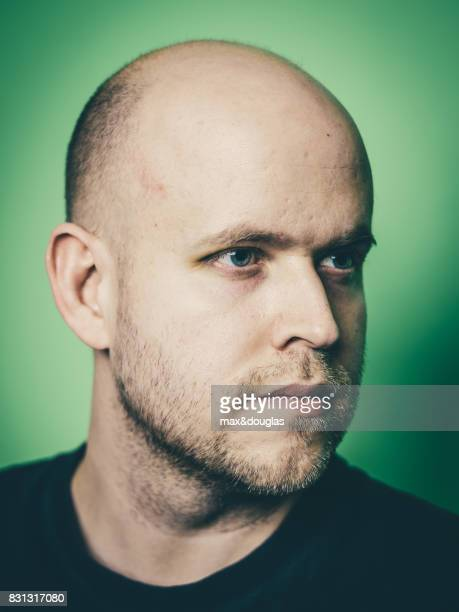 Founder of Spotify Daniel Ek is photographed for Wired Magazine on January 30 2015 in Stockholm Sweden