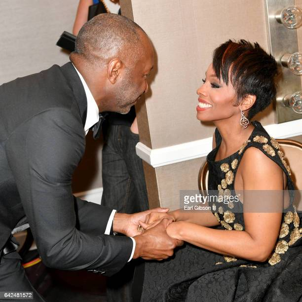 Founder of the ABFF Jeff Friday and actor Anika Noni Rose attend BET Presents the American Black Film Festival Honors on February 17 2017 in Beverly...