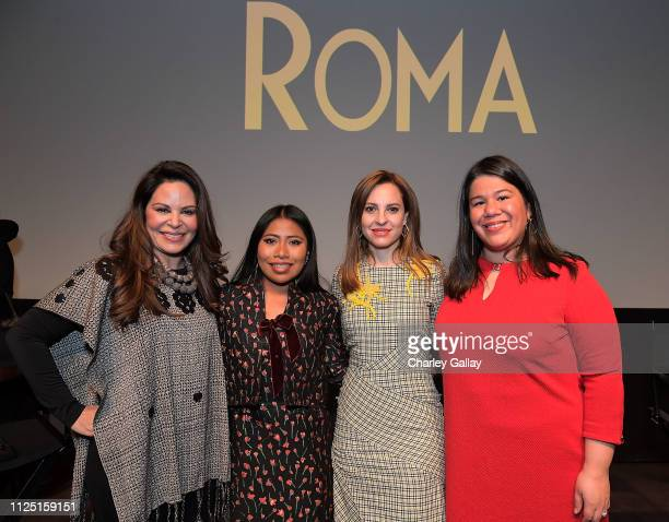 Founder of The Adelante Movement Nely Galan, actresses Yalitza Aparicio and Marina De Tavira, and Latina leader and Director of Gender and Justice...