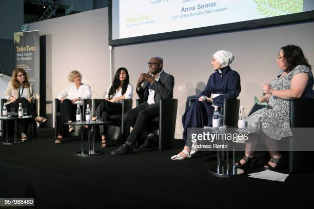 Founder of the Annenberg Inclusion Initiative at the USC Stacy L Smith Chief Executive of the Swedish Film Institute Anna Serne actress Bahar Pars...