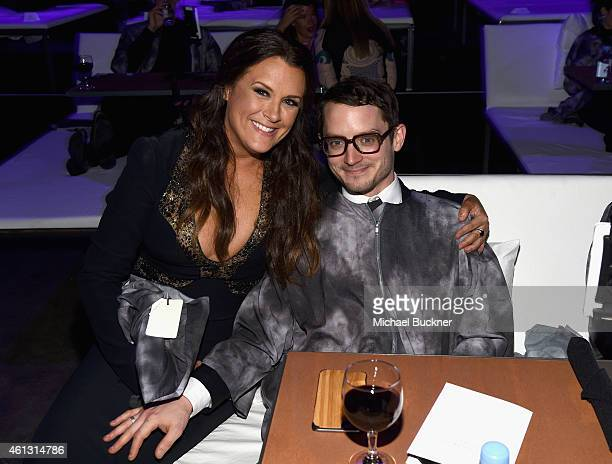 Founder of The Art of Elysium Jennifer Howell and actor Elijah Wood attend the 8th Annual HEAVEN Gala presented by Art of Elysium and Samsung Galaxy...