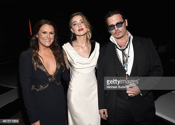 Founder of The Art of Elysium Jennifer Howell and actors Amber Heard and Johnny Depp attend the 8th Annual HEAVEN Gala presented by Art of Elysium...