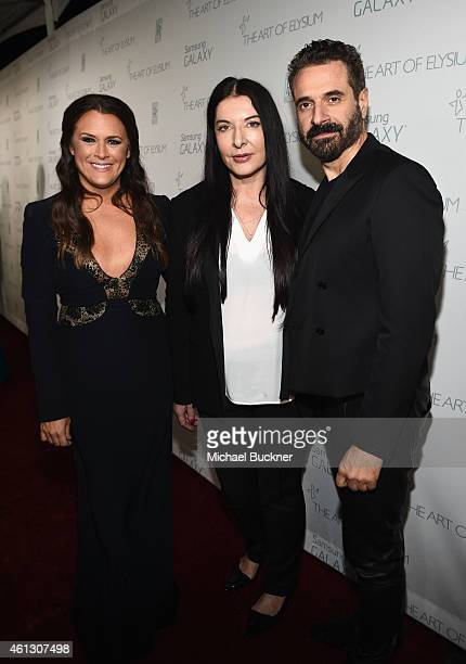 Founder of The Art of Elysium Jennifer Howell Art of Elysium creative visionary Marina Abramovic and designer Ennio Capasa attend the 8th Annual...
