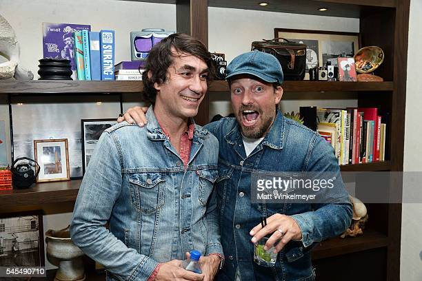 Founder of The Bungalow Huntington Beach Brent Bolthouse and photographer Brian Bowen Smith attend the Grand Opening of The Bungalow Huntington Beach...