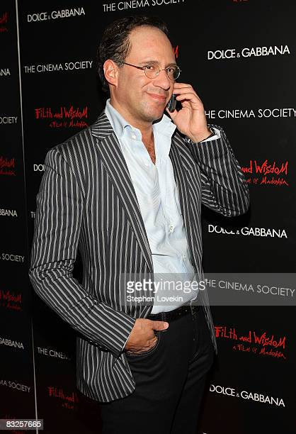 Founder of The Cinema Society Andrew Saffir attends a screening of Filth and Wisdom hosted by The Cinema Society and Dolce and Gabbana at the IFC...