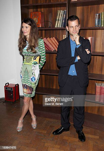 Founder of the Emdash Foundation Andrea Dibelius and Frieze cofounder Matthew Slotover attend at a private dinner hosted by Matthew Slotover and...